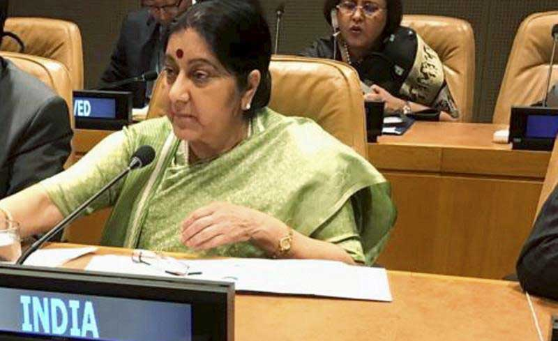 Sushma Swaraj during the UN General Assembly. PTI file photo.