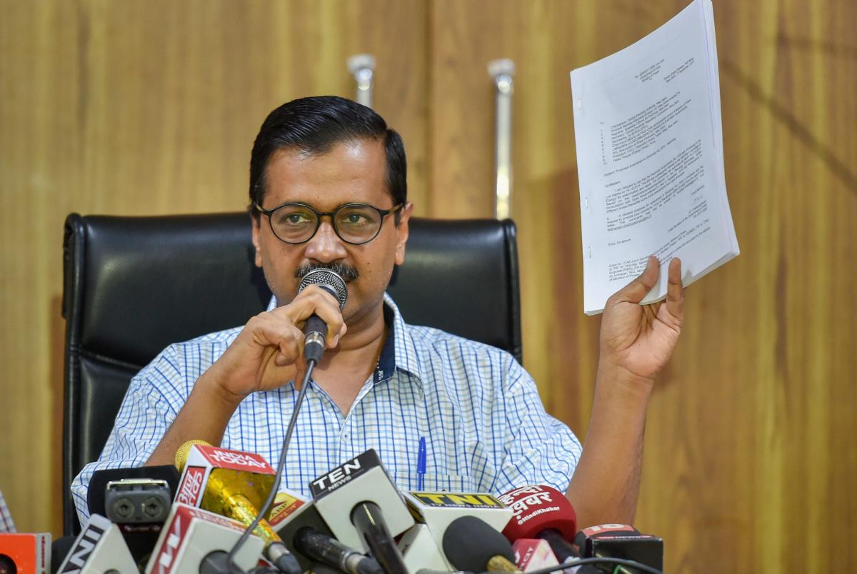 Delhi BJP leader Ashwini Upadhyay on Monday lodged a police complaint against Chief Minister Arvind Kejriwal over the latter's tweets in connection with the shooting down of a tech company executive in Lucknow. PTI file photo