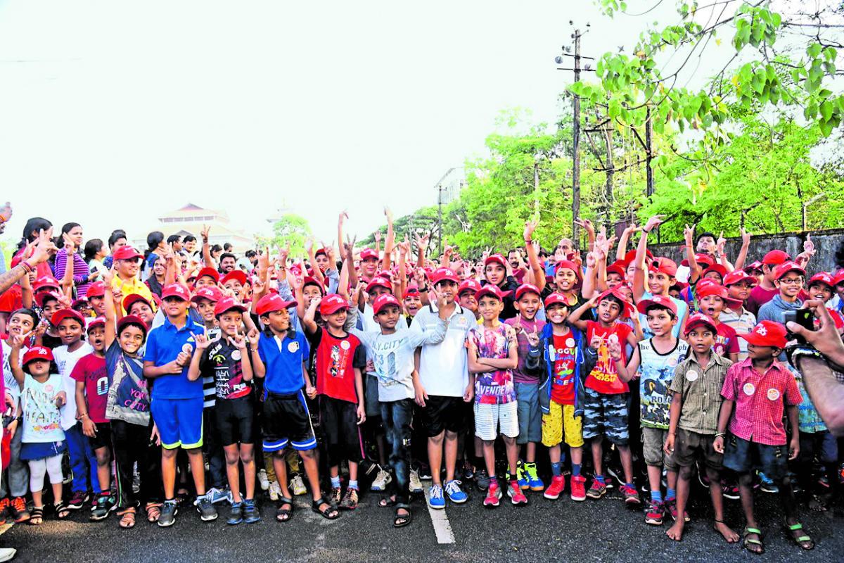Children take part in Kidathon held in Manipal.