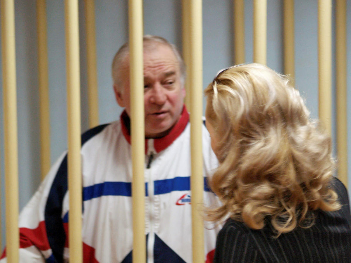 Sergei Skripal, a former colonel of Russia's GRU military intelligence service, looks on inside the defendants' cage as he attends a hearing at the Moscow military district court, Russia August 9, 2006. (Reuters File Photo)