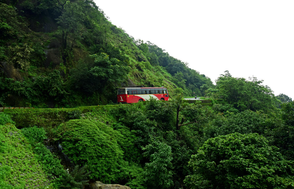 PICTURESQUE: A view of Charmadi Ghats in the Western Ghats range in Karnataka. DH file photo.
