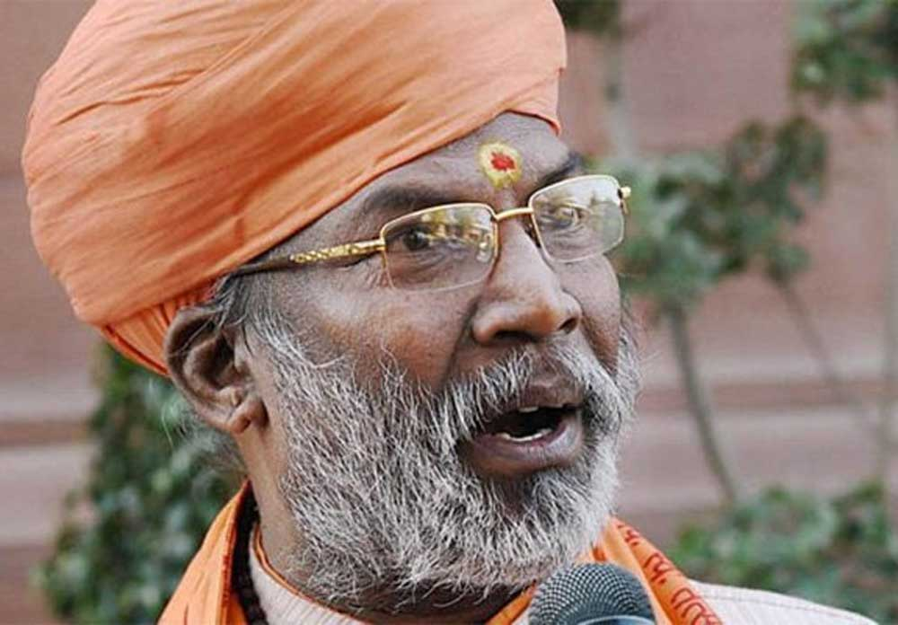 During his sermons, Sakshi Maharaj may be asking people to keep away from all kinds of intoxicants and follow the path shown by the religion but his own deeds seem to indicate otherwise. PTI file photo