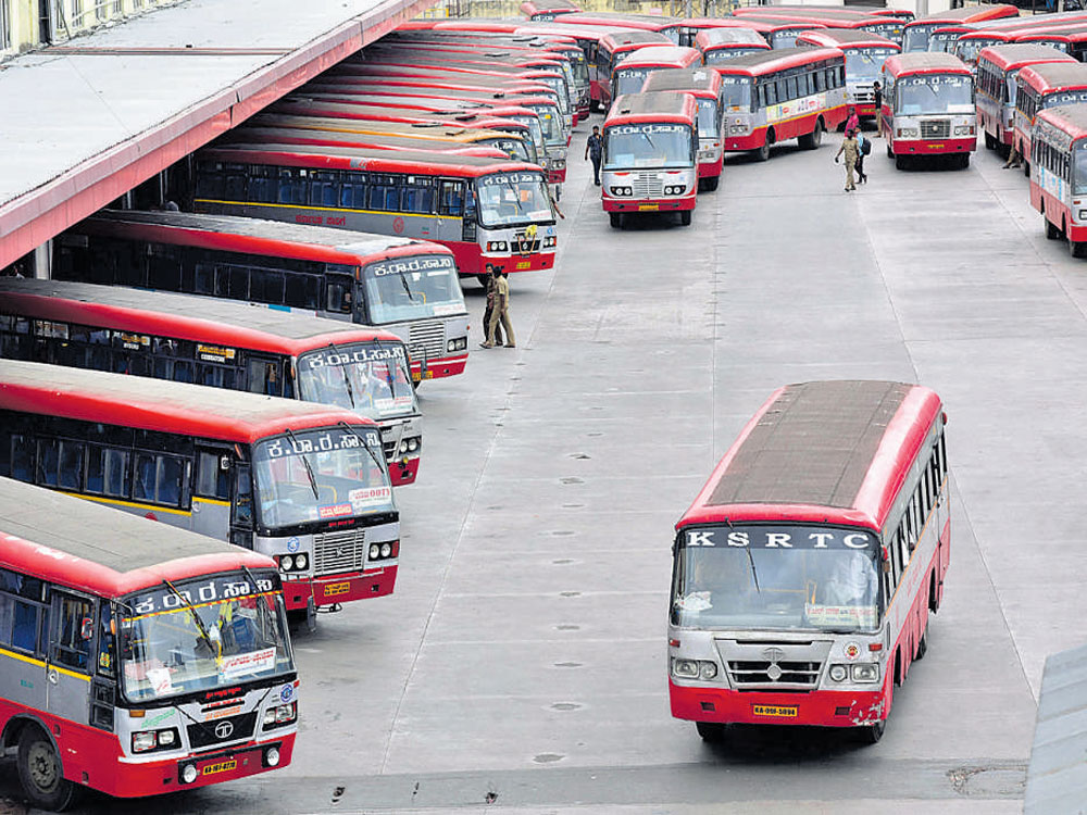 The four road transport corporations (KSRTC, BMTC, NEKRTC, NWKRTC) had proposed to hike bus fares by 18%. (DH File Photo)