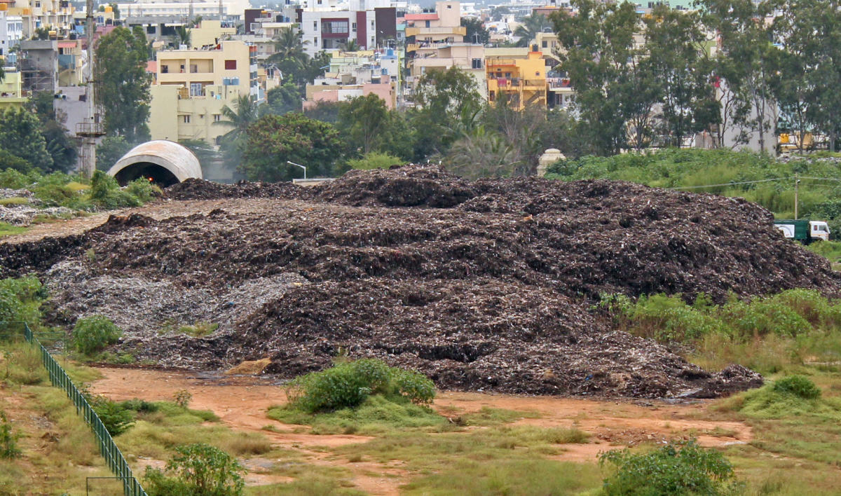 Nauseatingly yours: Despite several protests, the Karnataka Compost Development Corporation (KCDC) plant in Somasundarapalya continues its smelly business.