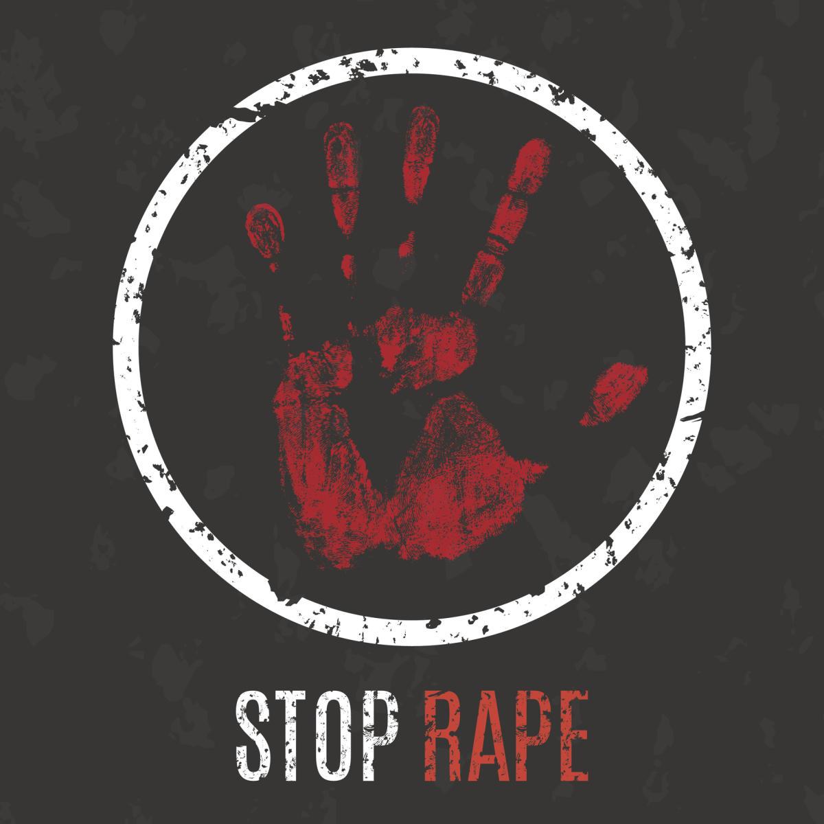 Stop rape sign.