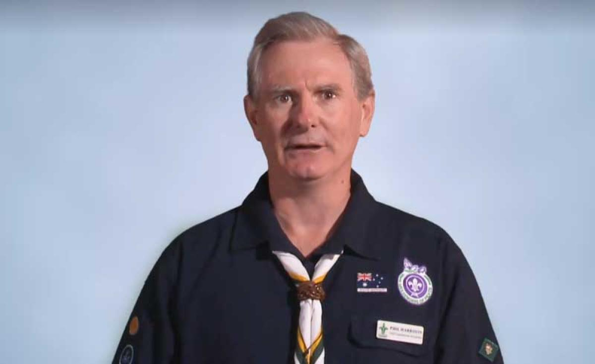 """""""We apologise unreservedly to those who suffered abuse during their time in scouting,"""" Scouts Australia chief commissioner Philip Harrison said in a statement. (Video grab)"""