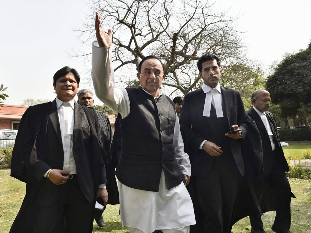 """Swamy had earlier accused Vora of wasting the court's time by filing """"frivolous applications"""" in the case.PTI file photo."""