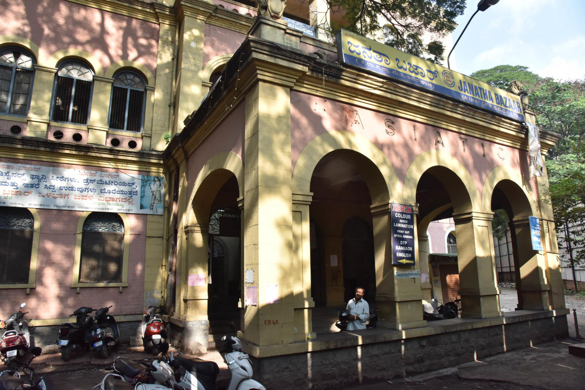 Alyia Phelps-Gardiner-Krumbiegel, great-granddaughter of Gustav Hermann Krumbiegel, is on a mission to save Janatha Bazaar building, located on K G Road in Bengaluru.