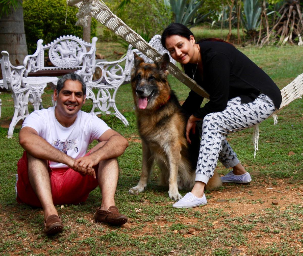 Darshan and Shivani with Buddy.