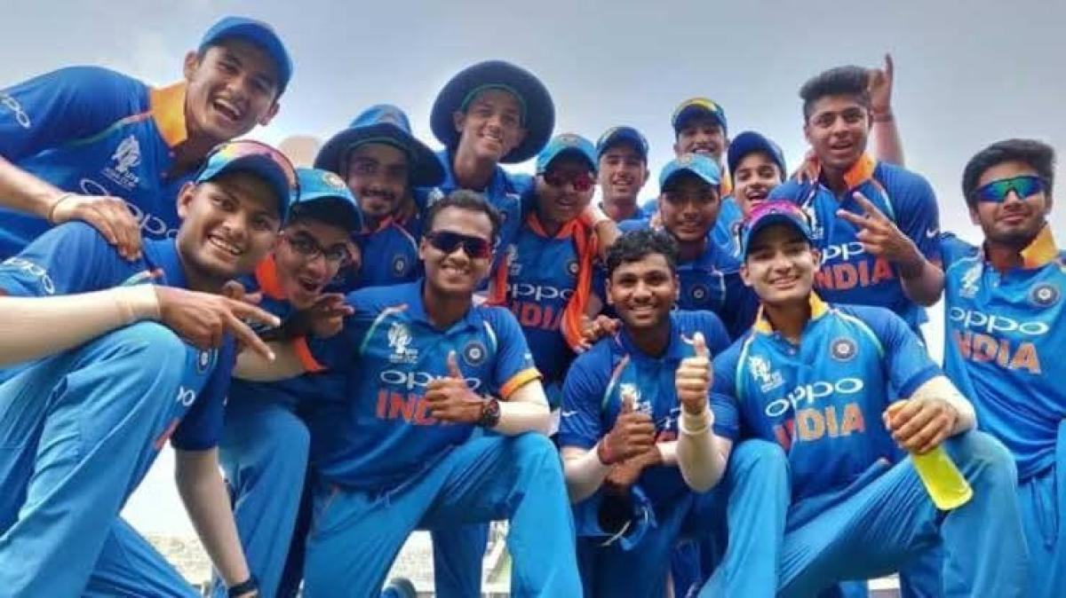 STAMPING AUTHORITY India under-19 players in a jubilant mood after winning the Asia Cup in Dhaka on Sunday. Twitter