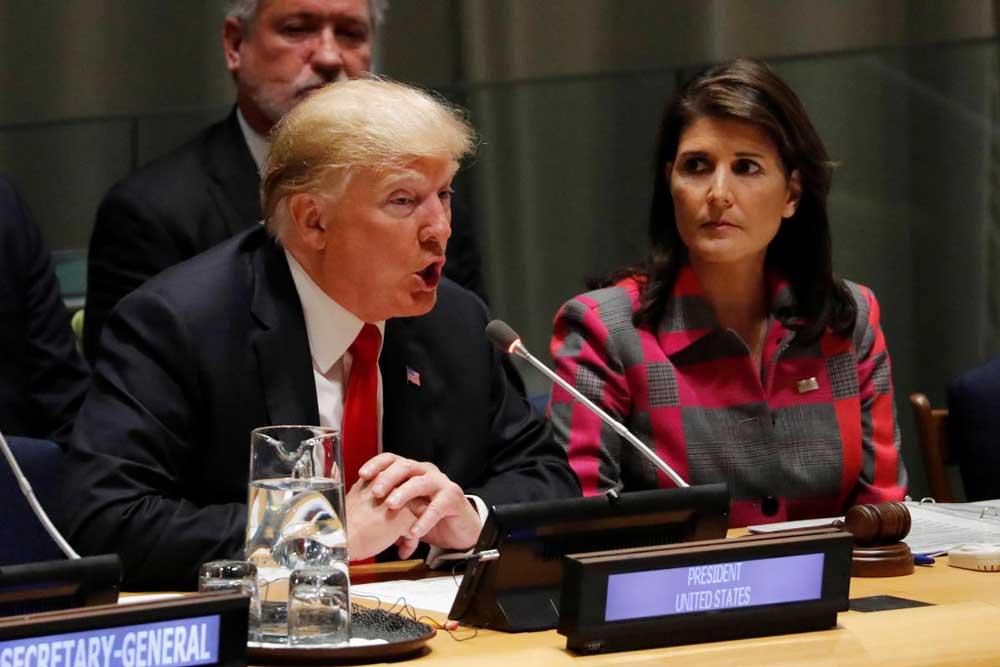 US President Donald Trump has accepted the resignation of UN Ambassador Nikki Haley. Reuters Photo