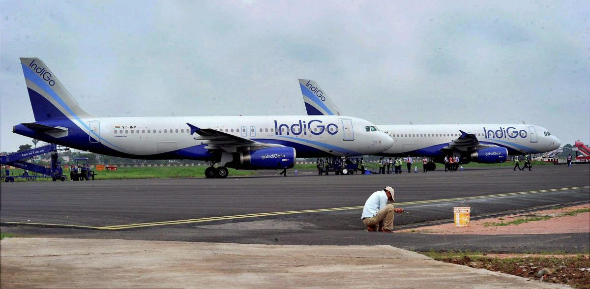 Shares of InterGlobe Aviation zoomed 7.44 per cent. (PTI file photo)