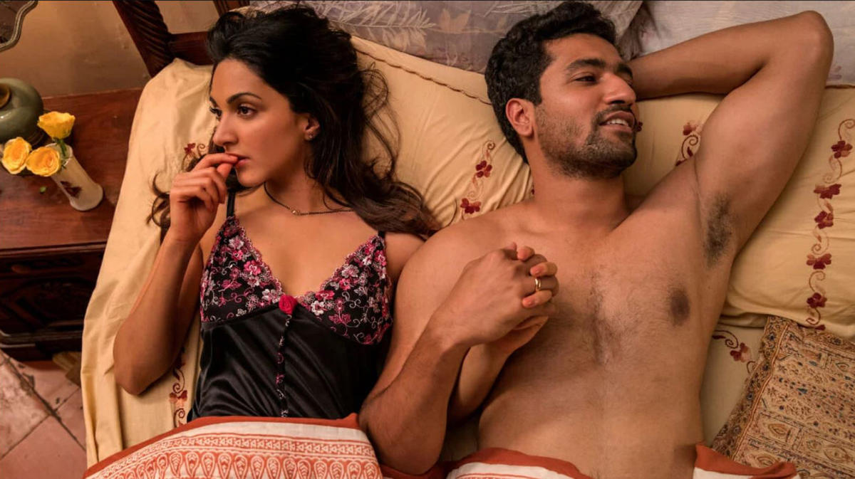 Kiara Advani and Vicky Kaushal in Lust Stories, a film produced for Netflix. It featured explicit lovemaking scenes, as did Sacred Games, the sensationally successful series about a Mumbai underworld don played by Nawazuddin Siddiqui.