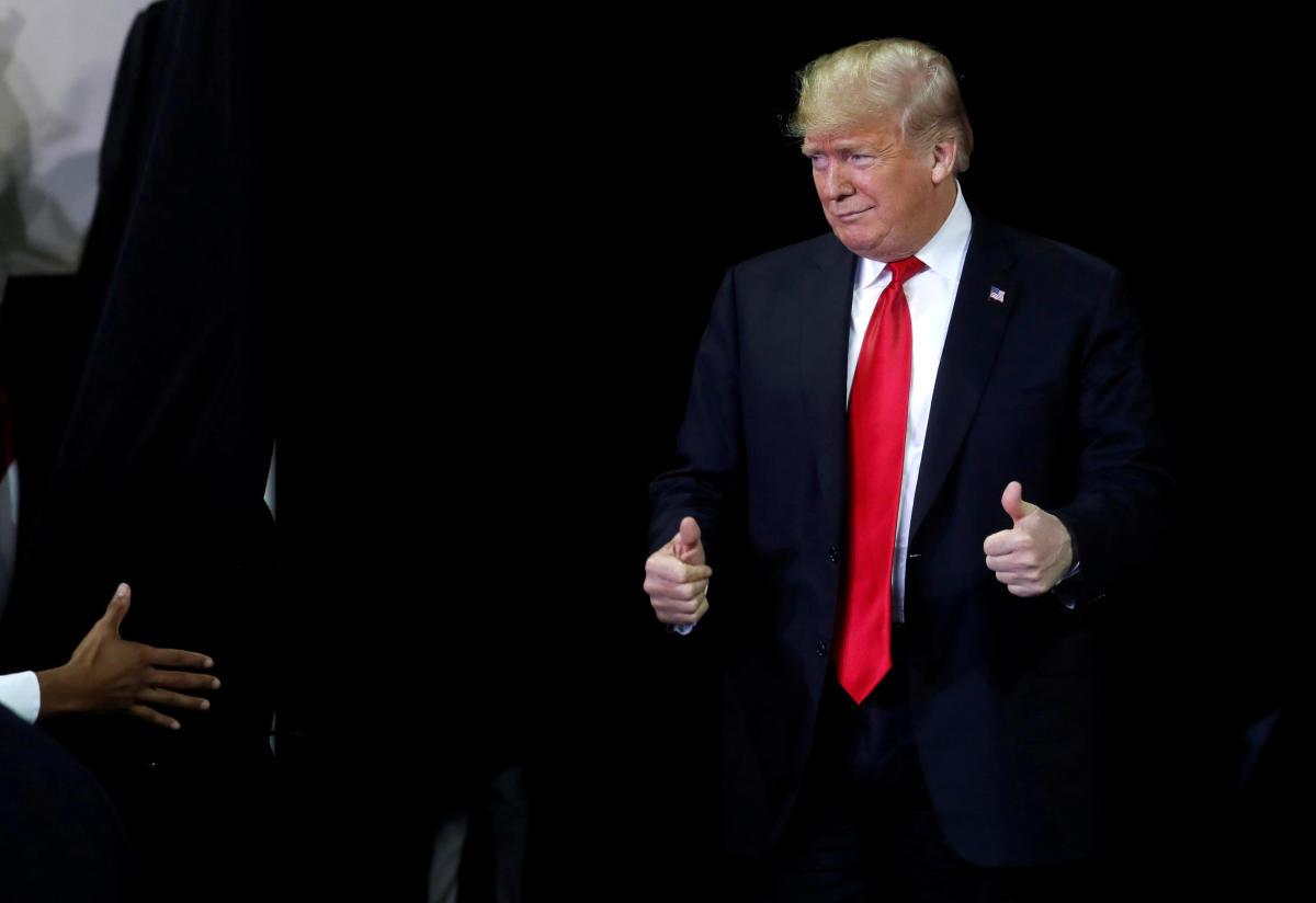 U.S. President Donald Trump. REUTERS/Leah Millis.