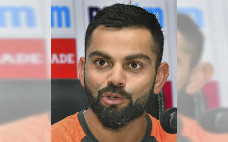 """""""The Dukes ball, I think, is the most suited ball for Test cricket. If there's a situation I would vouch for that to be used all over the world because of the consistency of the ball and how the bowlers are in the game at any stage, even the spinners, because the seam is so hard and upright,"""" Kohli said on the eve of the second Test against the West Indies. (PTI Photo)"""