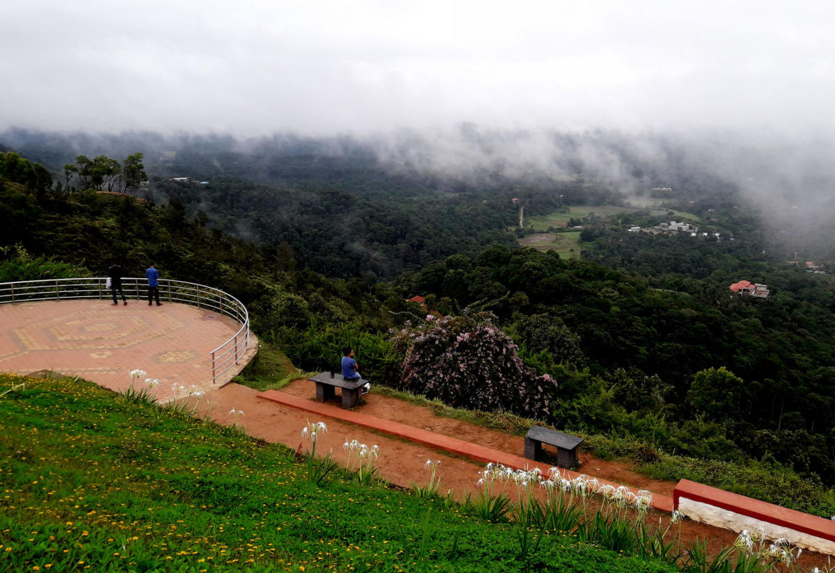 A view of the deserted Raja Seat in Madikeri.