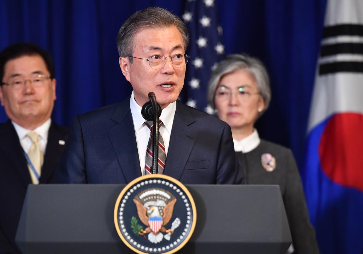 South Korean President Moon Jae-in in New York on September 24, 2018. AFP