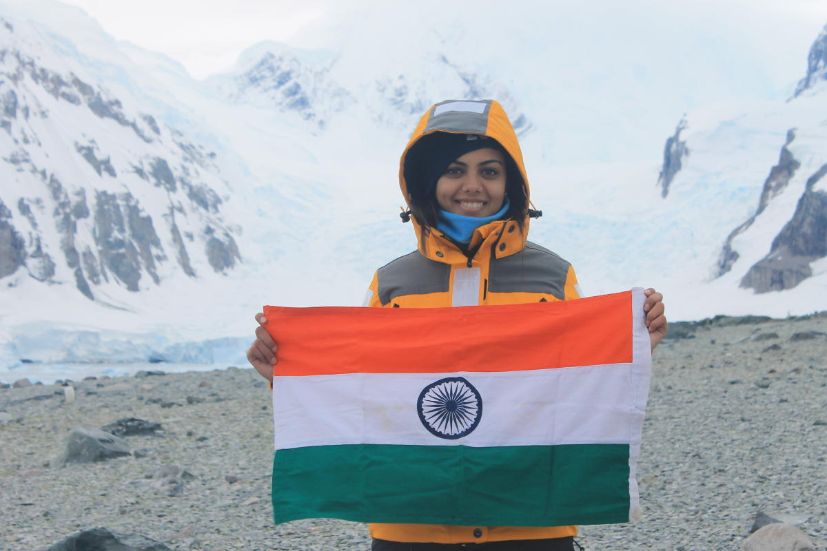 Avani Awasthee, a second-year student of School of Communication, at Manipal Academy of Higher Education (MAHE) in Antarctica.