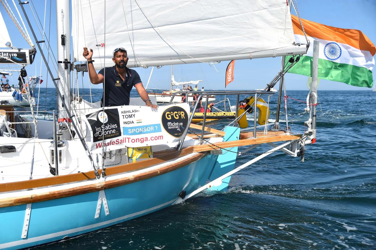 """An Indian Navy aircraft has located the vessel of Indian Naval officer Abhilash Tomy, who was badly injured while participating in the Golden Globe Race, """"rolling excessively"""" in the South Indian Ocean, a Defence spokesman said on Sunday. AFP photo"""