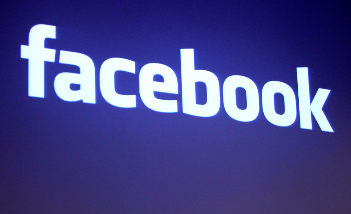FILE PHOTO: The Facebook logo is shown at Facebook headquarters in Palo Alto, California, U.S., May 26, 2010. REUTERS/Robert Galbraith/File Photo