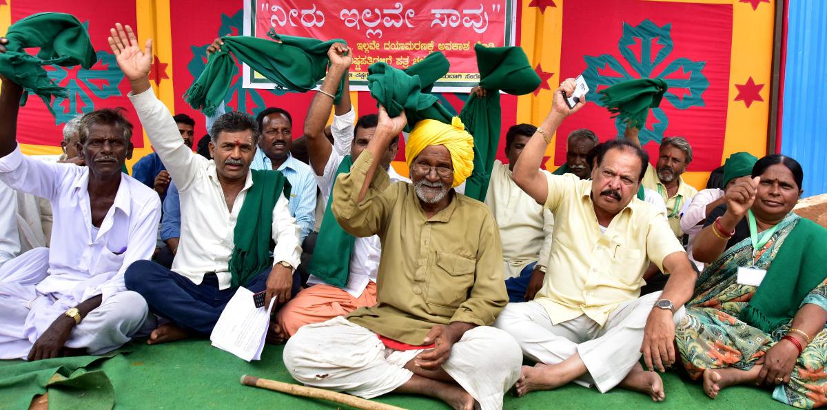 Mahadayi protest. DH photo.