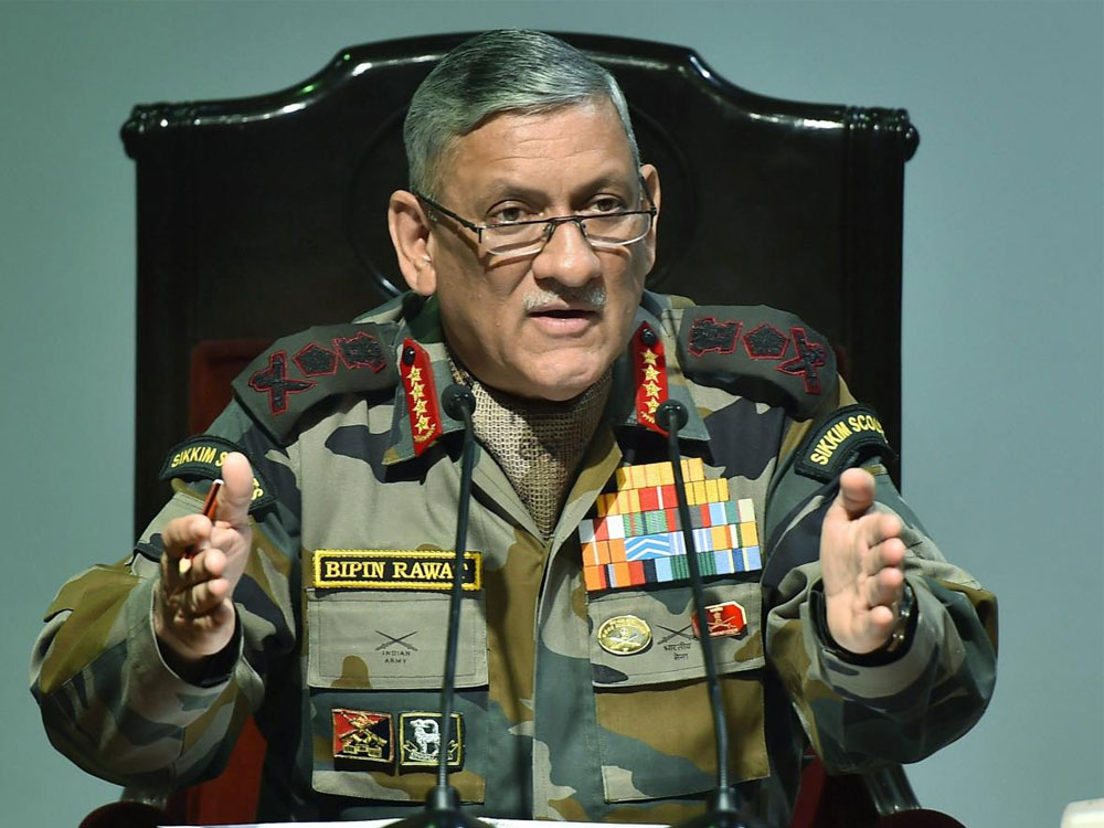 The human rights record of the Indian Army is absolutely above board, Gen. Rawat maintained. (PTI file photo)