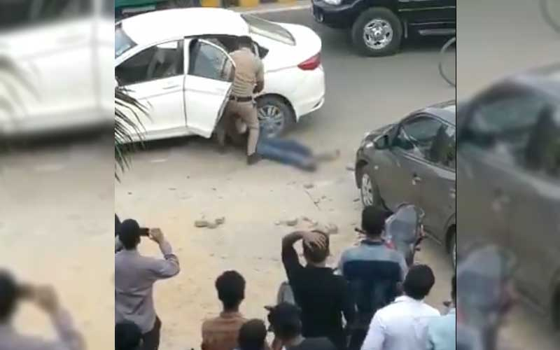 Additional Sessions Judge Krishan Kant's wife Ritu (45) and son Dhruv (18) had gone for shopping in the Arcadia market Saturday when they were shot at by Mahipal. They were rushed to hospital in a critical condition. (Screengrab)