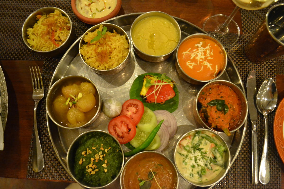 Wholesome Nawabi thali features Awadhi and Nizami inspired dishes.