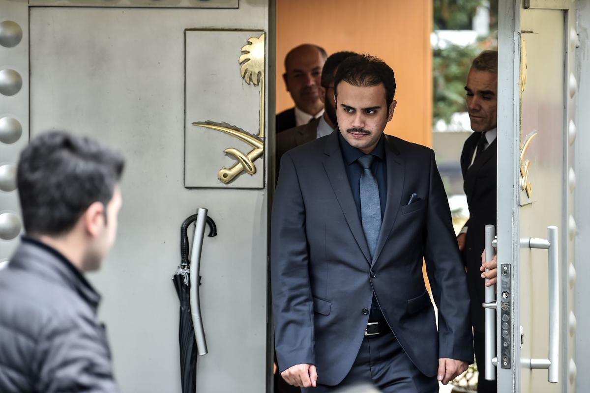 Saudi officials leave the Saudi Arabian consulate in Istanbul. Saudi Arabia warned it would retaliate against any sanctions imposed on the oil-rich kingdom over the disappearance of journalist Jamal Khashoggi, as more Western companies distanced themselves from the Gulf State. Khashoggi, a Washington Post contributor, vanished after entering the consulate on October 2. AFP Photo