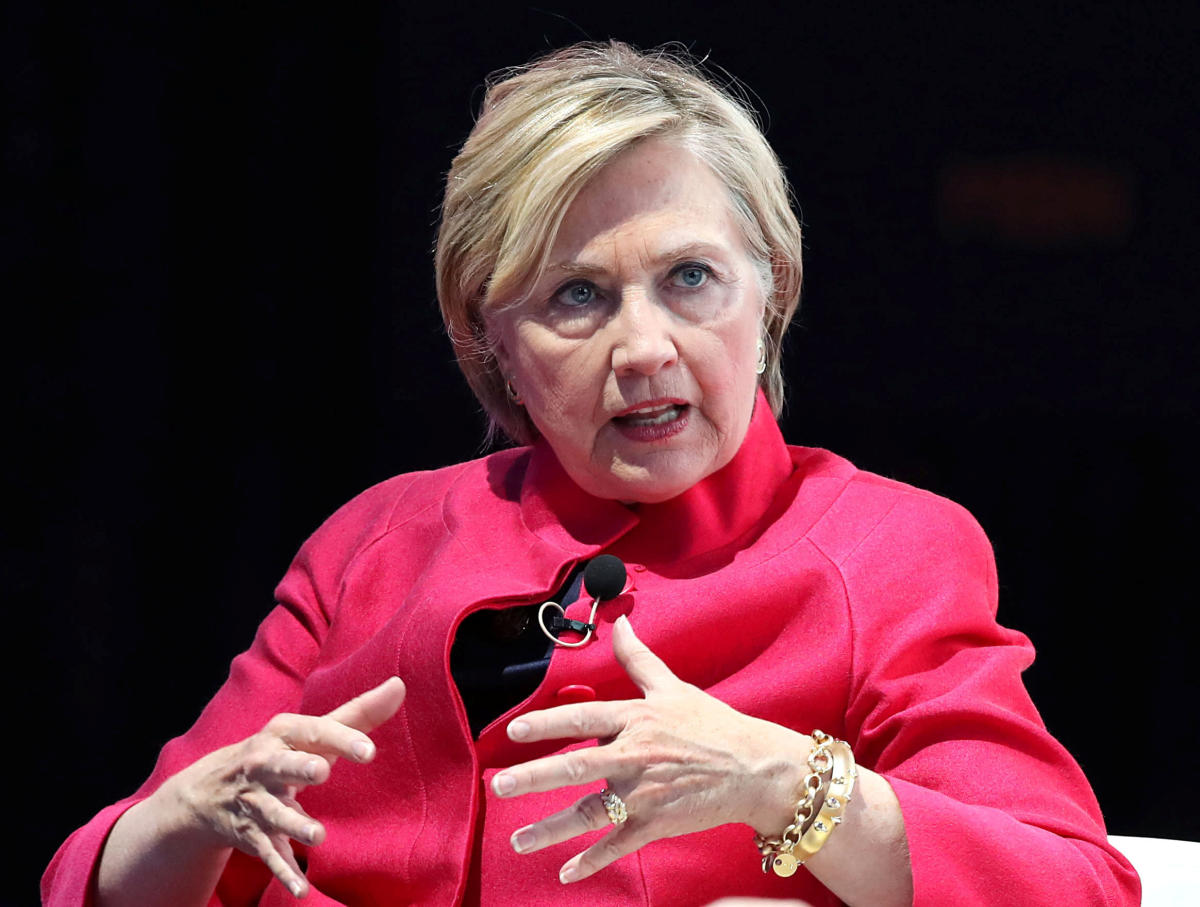 """Hillary Clinton said: """"No, no"""" and noted that Monica Lewinsky, who was 22-years-old at the time, """"was an adult"""". Reuters File Photo"""