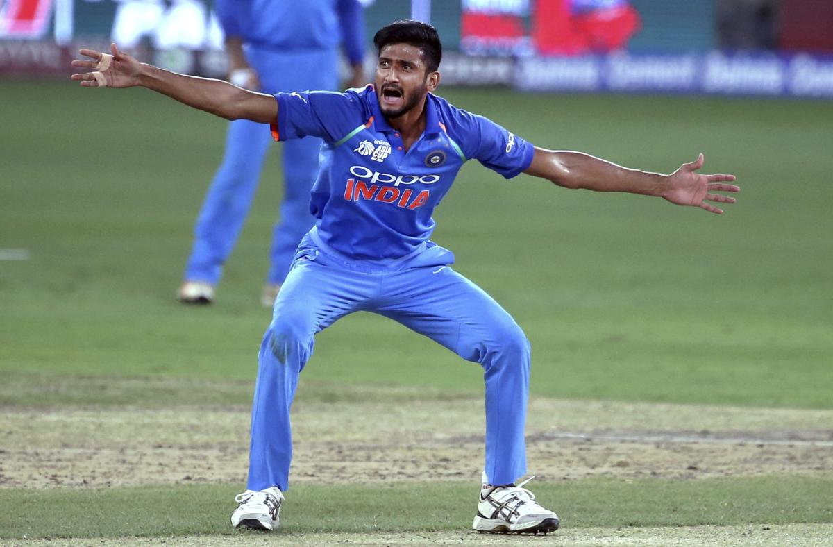 NEW KID ON THE BLOCK: Khaleel Ahmed feels the more the number of wickets he takes, the better are the chances of him making the cut for next year's World Cup. AP/ PTI