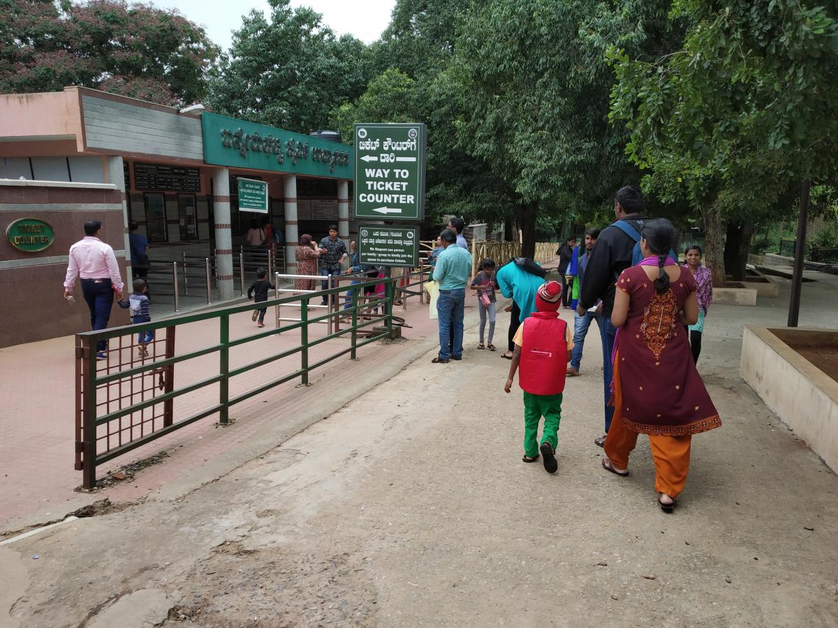 The management of Bannerghatta Biological Park (BBP) is talking to city-based architects and art schools on how to redo the entrance with ramps to make it diabled-friendly. DH file photo