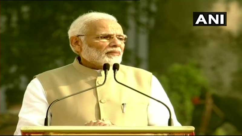 Prime Minister Narendra Modi on Sunday inaugurated and dedicated to the nation a refurbished national police memorial and a newly-built museum for the khaki-donning forces. (Image: ANI/Twitter)
