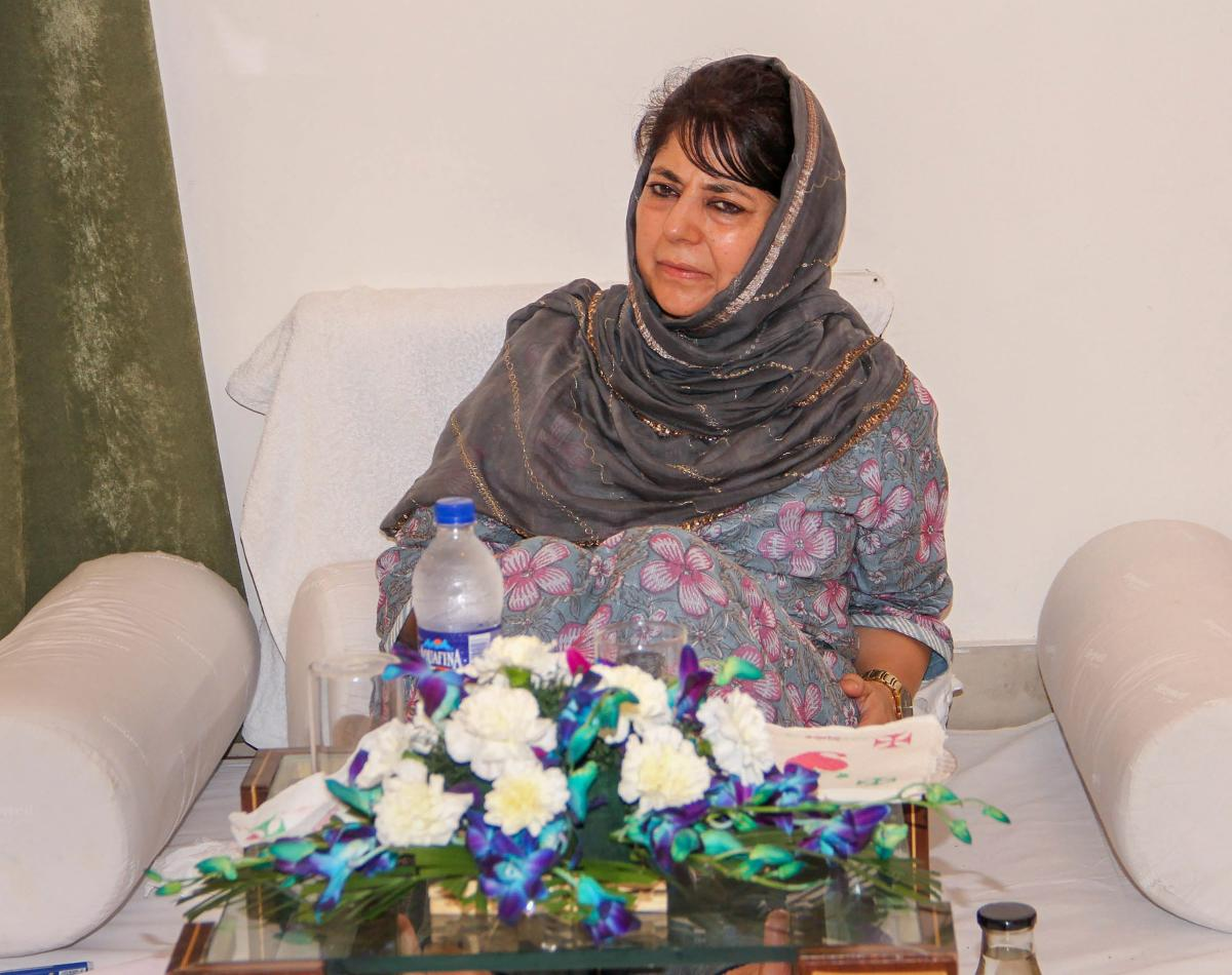 Mehbooba Mufti said that she was extremely saddened by the news of the Kulgam incident, where civilians were once again caught in the cross fire of violence, thus adding fuel to the already volatile situation. PTI file photo.