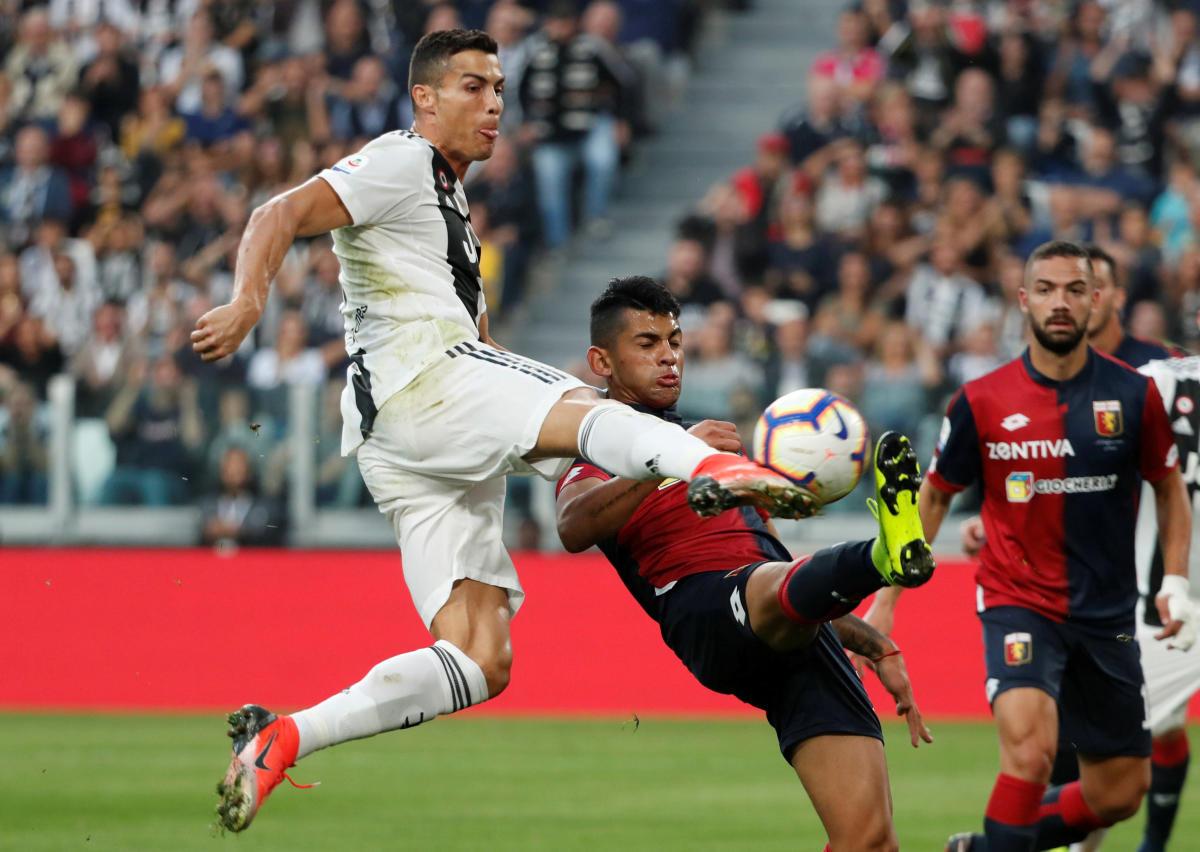 FOCUSED Juventus' Cristiano Ronaldo in action during his side's clash against Genoa on Saturday. REUTERS