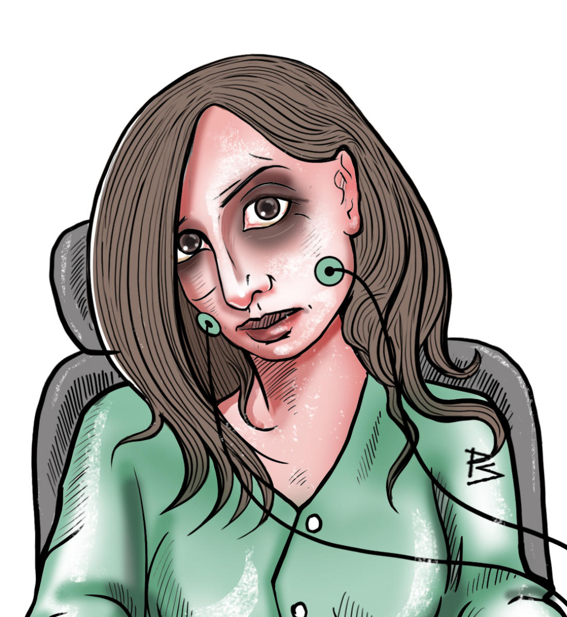 Deeptii Mohan; a depiction of the Locked-in Syndrome. (DH graphics)