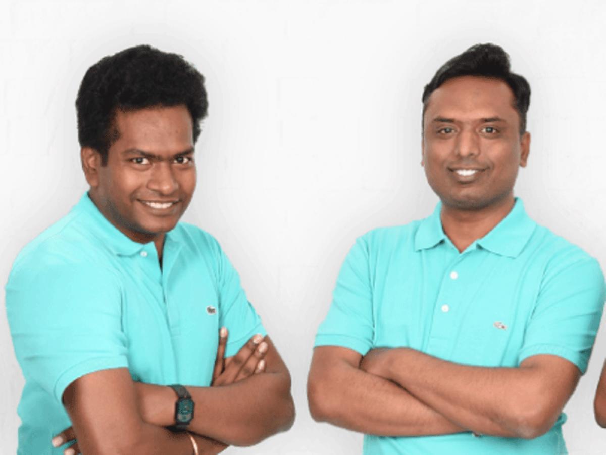CEO Sathvik Vishwanath (left) and co-founder Harish B V.