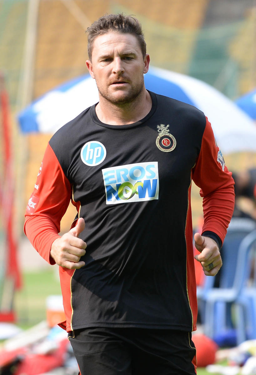 Brendon McCullum was disappointed with RCB's fielding in the game against Kolkata Knight Riders. DH FILE PHOTO