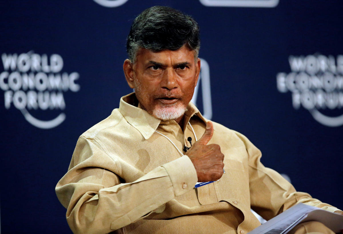 Andhra Pradesh Chief Minister N Chandrababu Naidu tore into BJP chief Amit Shah's allegation that it was the Congress that slapped the cases on him. Reuters file photo