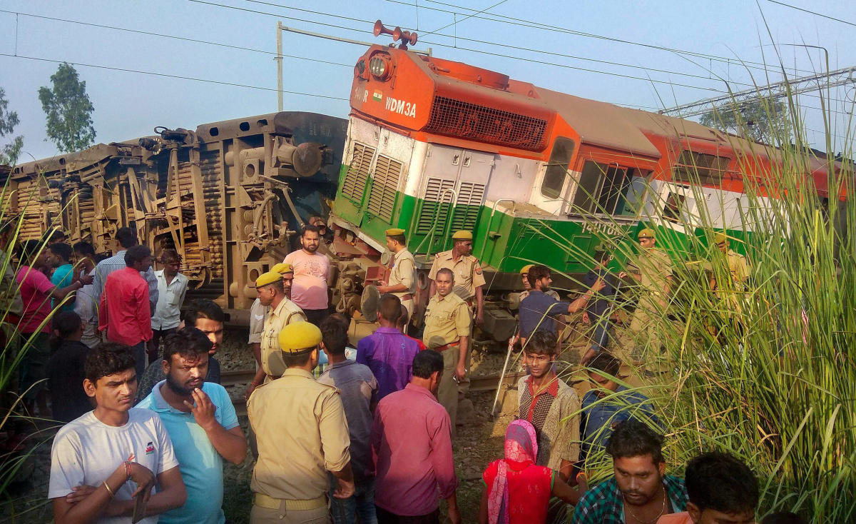 The report of the Commission of Railway Safety (CRS) released on Tuesday suggested the reason behind the derailment was that it was given a green signal despite the point failure. (PTI file photo)