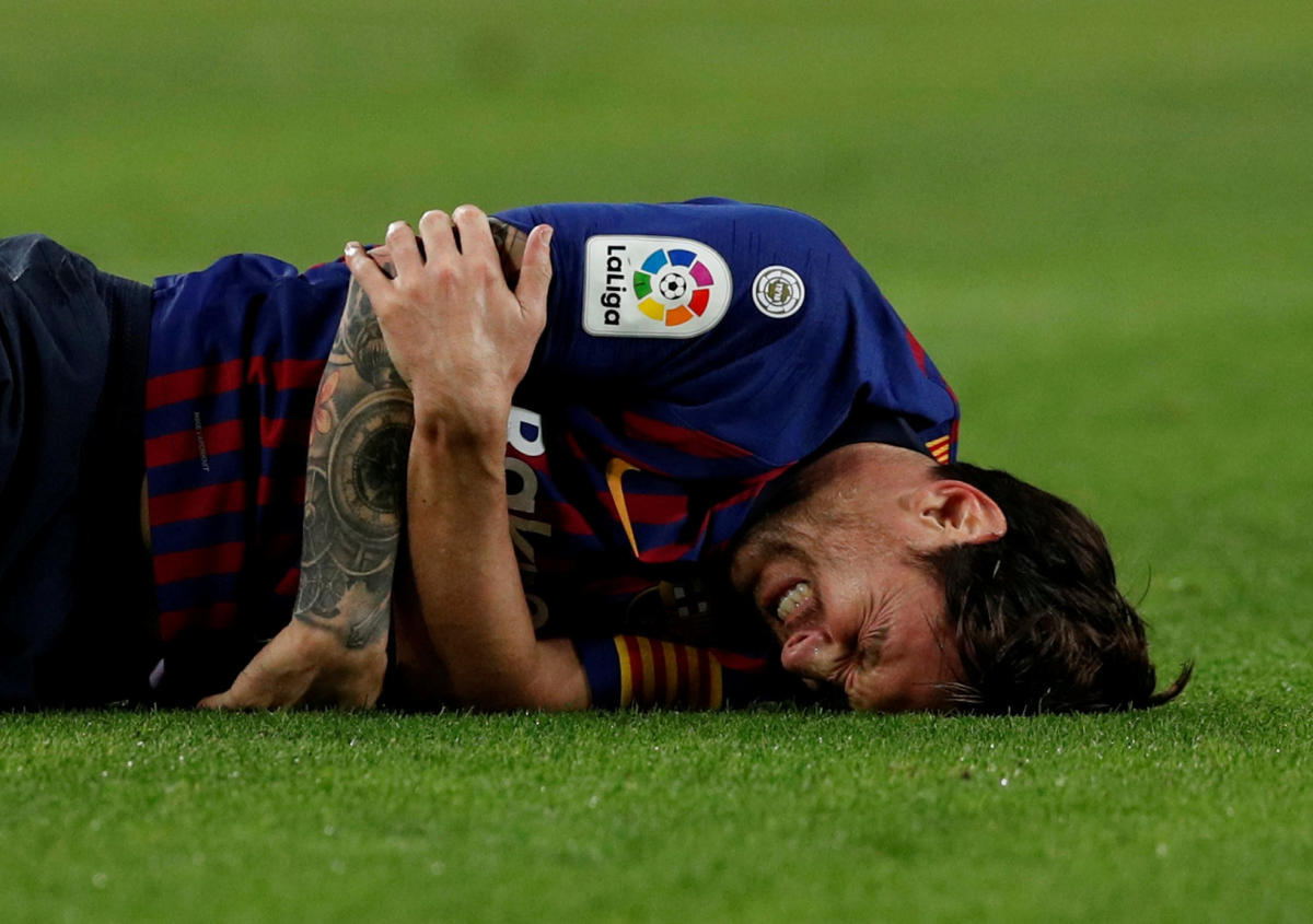 Without the injured Lionel Messi, pressure will be on Barcelona as they take on Inter Milan in the Champions League. REUTERS