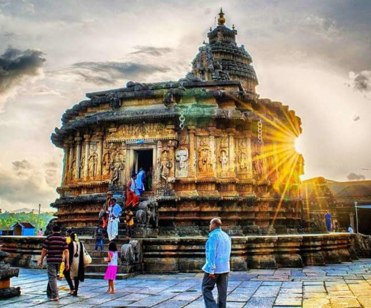 Sri Vidyashankara temple on the premises of Shri Sharada peetha in Sringeri.