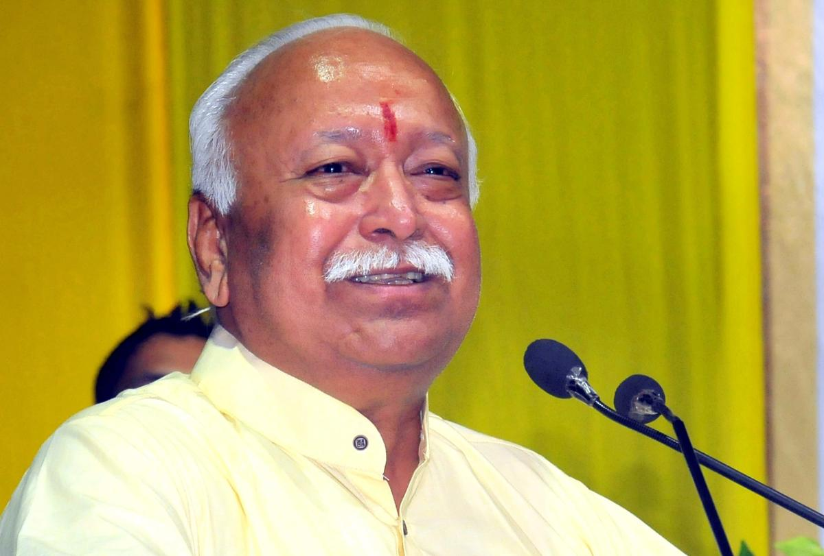 RSS chief Mohan Bhagwat. PTI file photo.