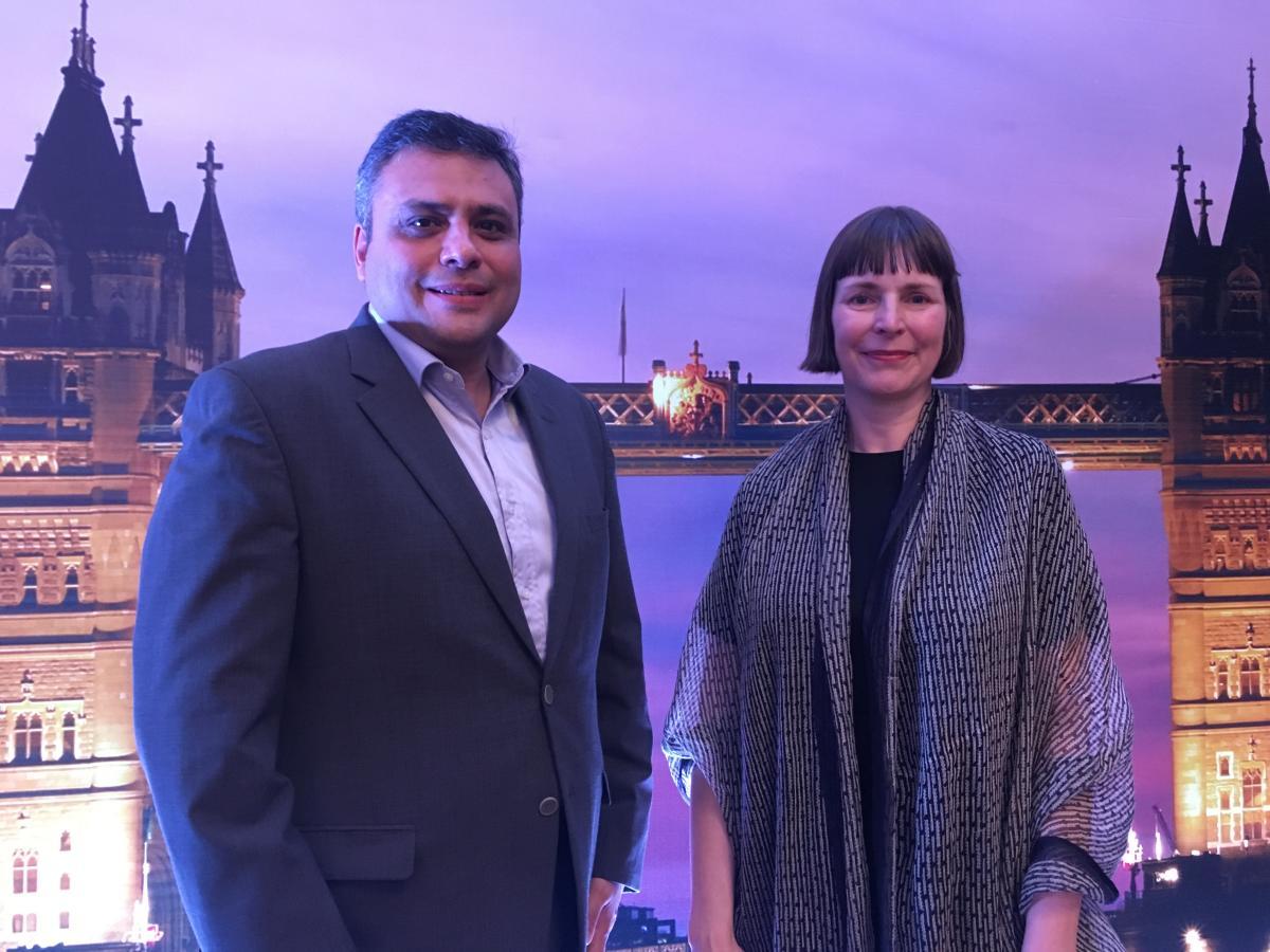 Hemin Bharucha, London & Partners chief representative for India, and Julie Chappell, London & Partners international markets managing director.