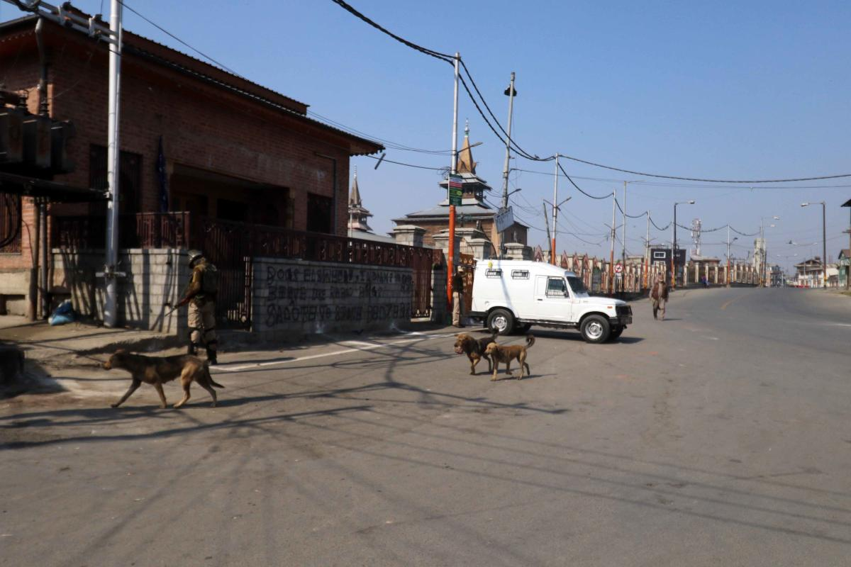 Shops and other commercial establishments, schools and colleges remained closed across Kashmir valley including commercial hub of Lal Chowk in Srinagar. (DH File Photo/Umer Asif)
