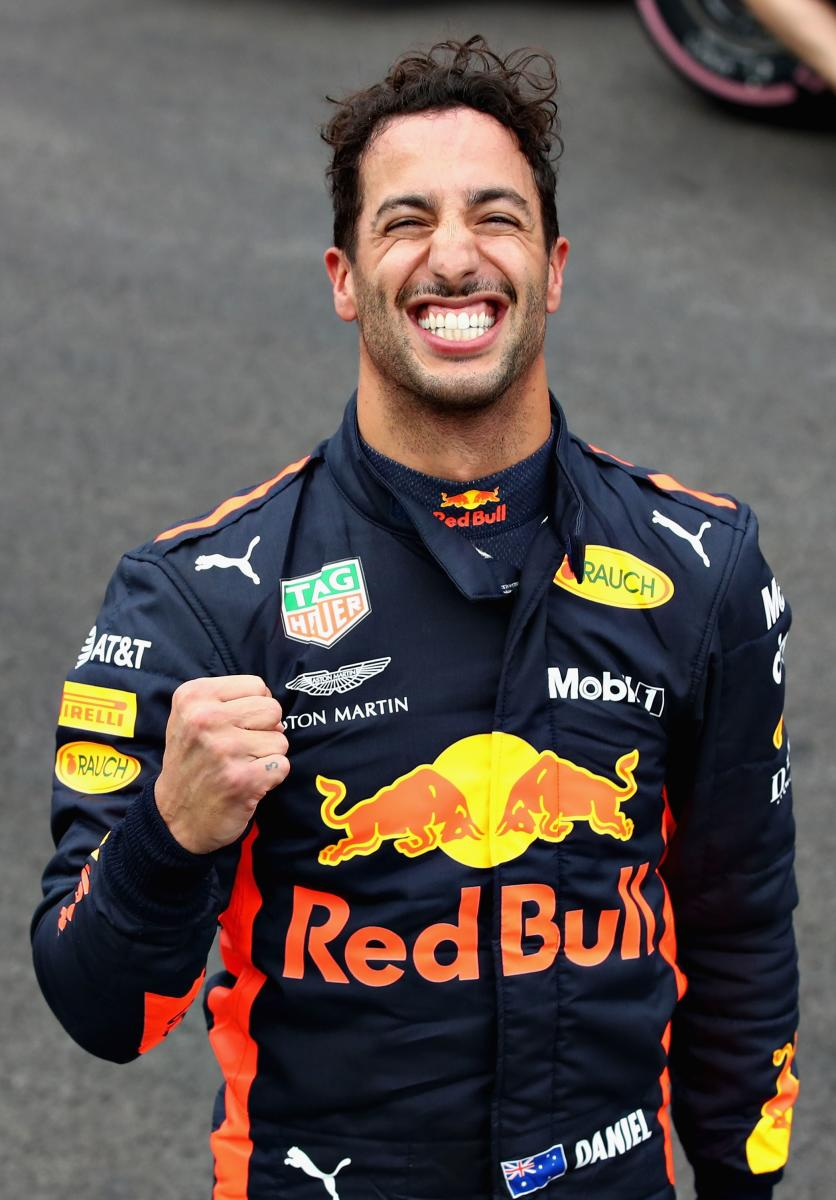 STUNNING: Daniel Ricciardo of Red Bull celebrates after bagging the pole position at the Mexican Grand Prix on Saturday. AFP