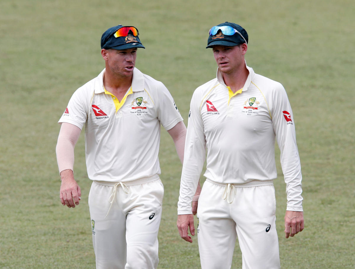 Australia's David Warner (left) and Steve Smith. Reuters File Photo.