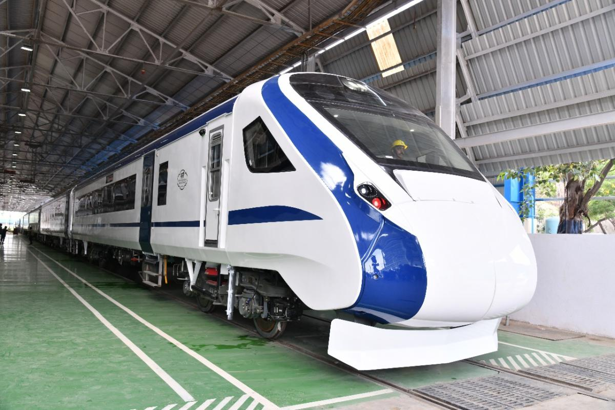 Train-18, India's first engine-less train.
