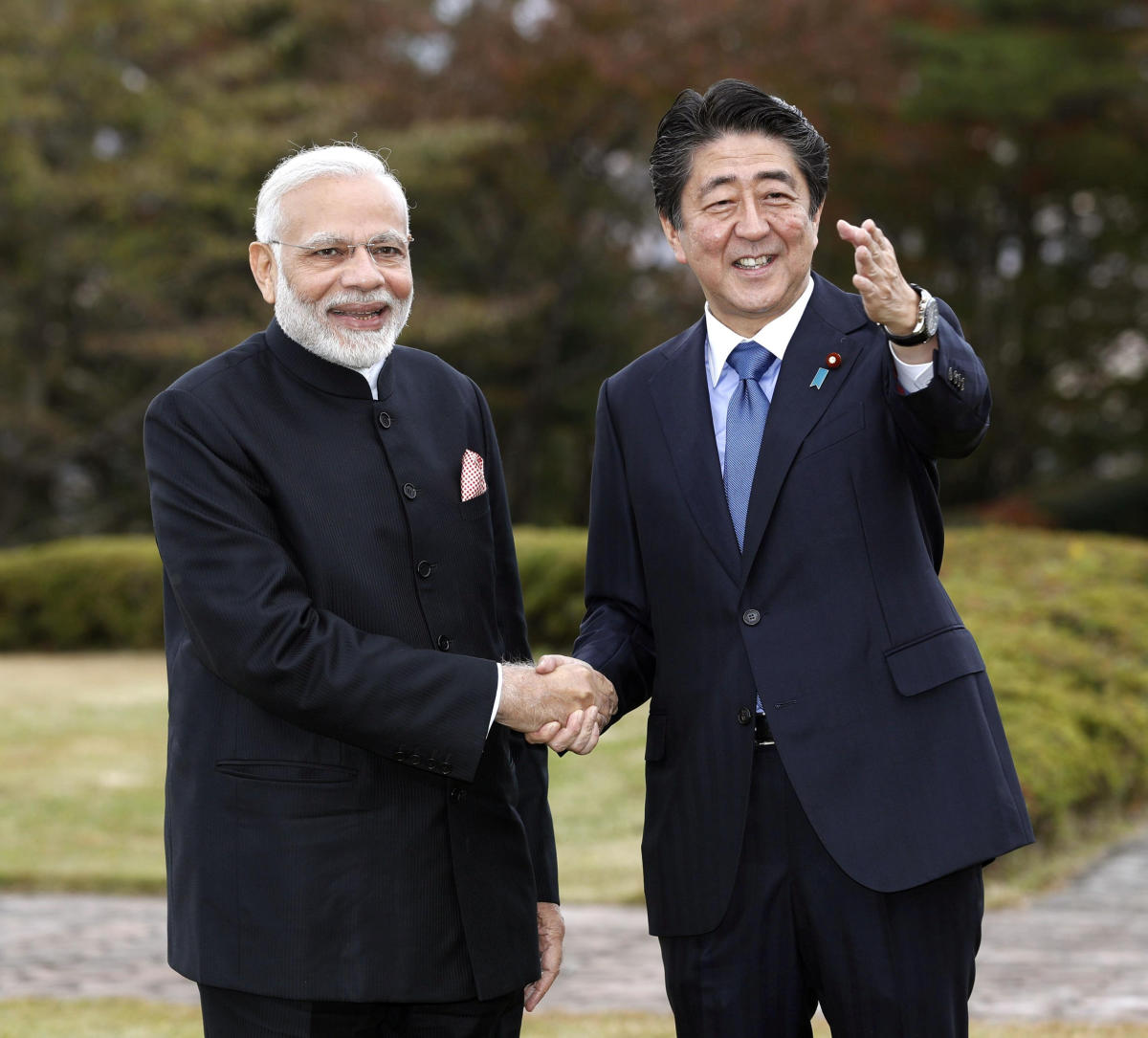 The formal summit comes a day after the two prime ministers spent about eight hours together at a picturesque resort near Mount Fuji. (Reuters Photo)