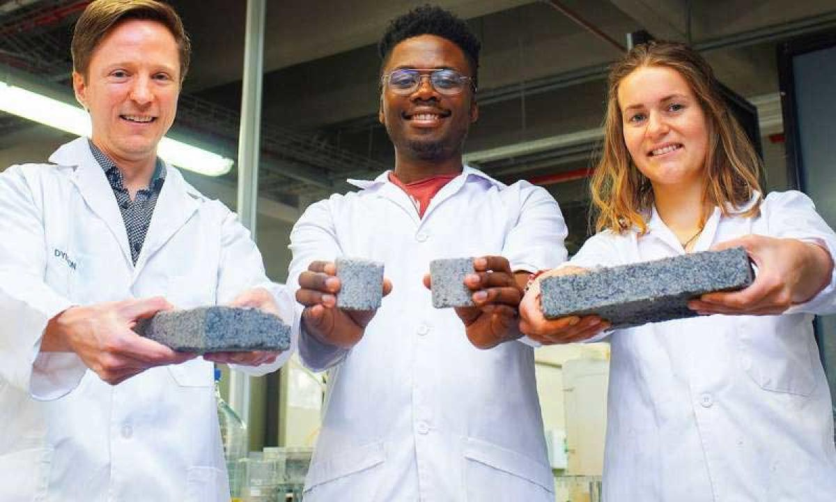 The bio-bricks are created through a natural process called microbial carbonate precipitation, said researchers from the University of Cape Town (UCT) in South Africa. (Image Credit: University of Cape Town)